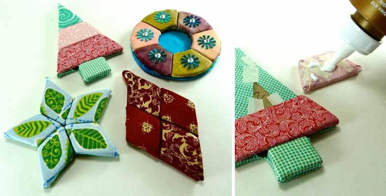 adornos japoneses de tela sin costuras