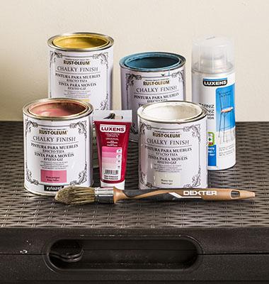 Pinta un arc n de resina con pintura efecto tiza y for Chalk paint leroy merlin prezzo