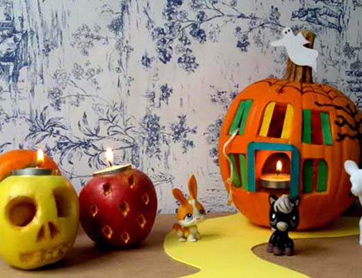 Decora una calabaza para la noche de Halloween
