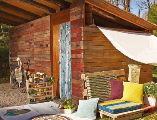 Teje una cortina con flores de ganchillo - Cortinas para porche exterior ...