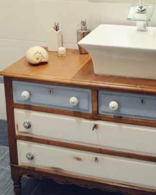 Transformar una c moda en un mueble de lavabo for Comoda mueble
