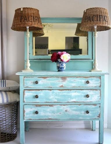 Decapado a 2 colores coastal style - Decapado de muebles ...