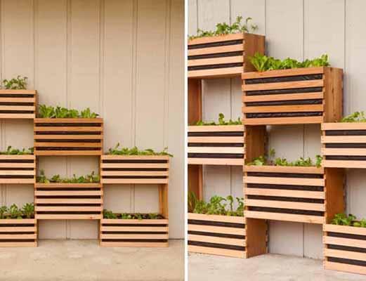 Huerto de pared cultiva tus verduras for Listones de madera para palets