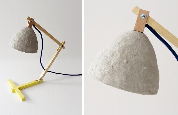 Una l mpara de papel reciclado - Lamparas de pie de papel ...