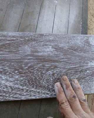 Madera blanqueada, una técnica muy fácil
