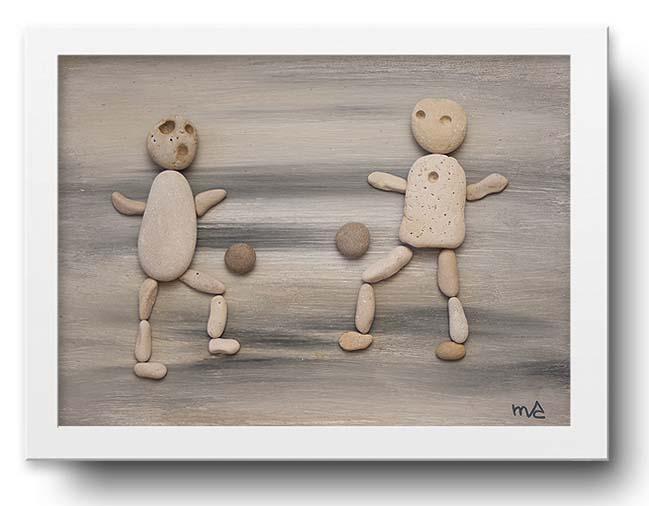 Mayka ka ma piedras que cuentan historias - Cuadros hechos con piedras de playa ...