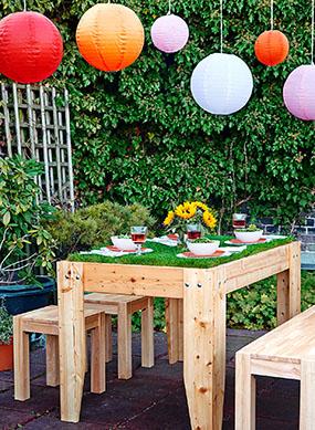 Hazte con una mesa muy verde para el jard n - Mesa jardin plastico verde ...