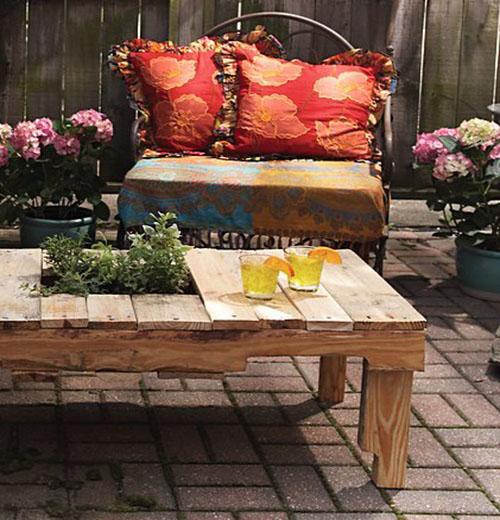 Haz una mesa de jard n con un palet viejo for Articulos para jardin