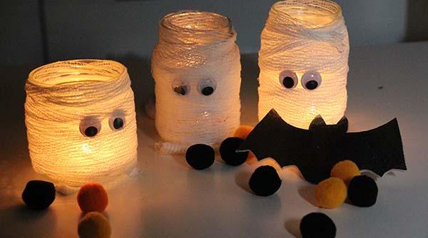 Momias con luz para halloween uhhh qu miedo for Articulos decoracion halloween