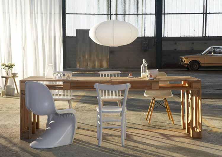 Muebles fáciles con palets reciclados