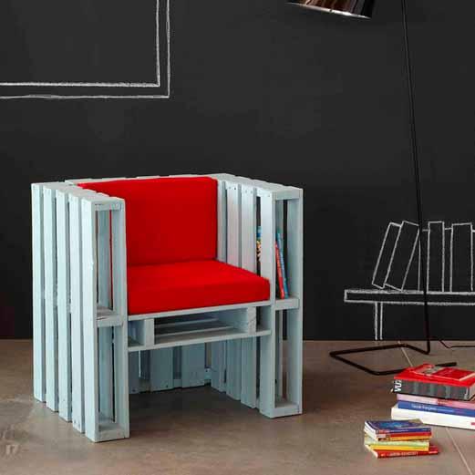 Muebles f ciles con palets reciclados for Muebles palets reciclados
