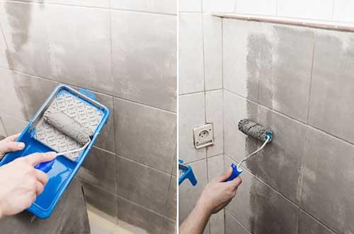 Pintar los azulejos del ba o y renovarlo sin obras - Pinturas para azulejos bano ...