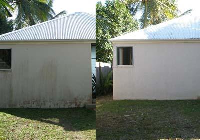 Casa a punto con una limpieza de fachada solados y cubiertas - Limpieza en seco en casa ...