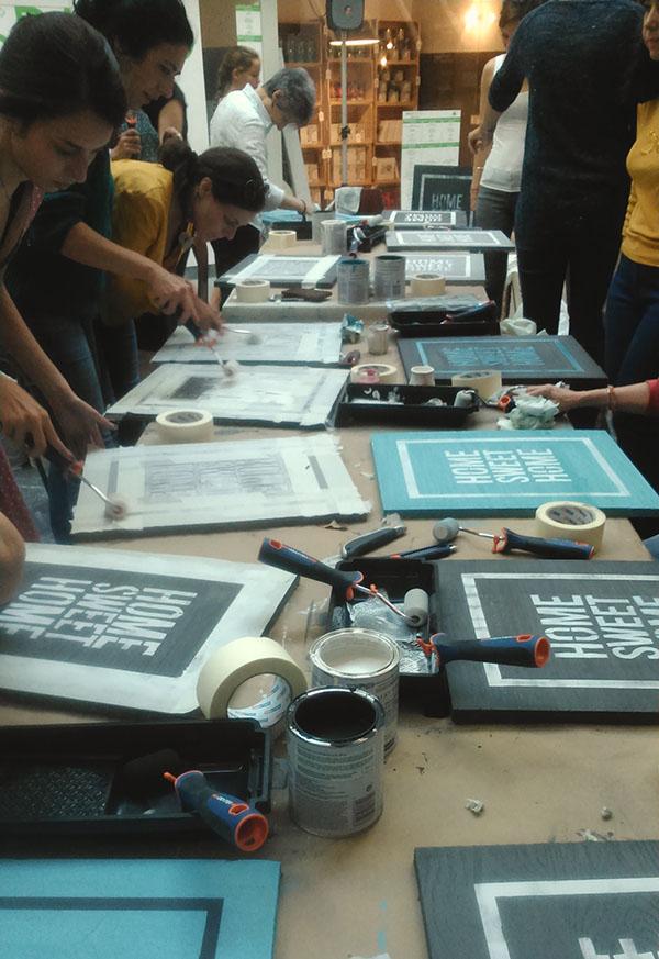 Recycrafts en los talleres del deco espacio de leroy merlin for Leroy merlin talleres