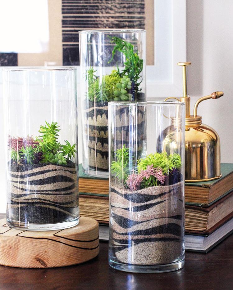 C mo hacer un terrario en un recipiente de cristal - Como construir un terrario ...