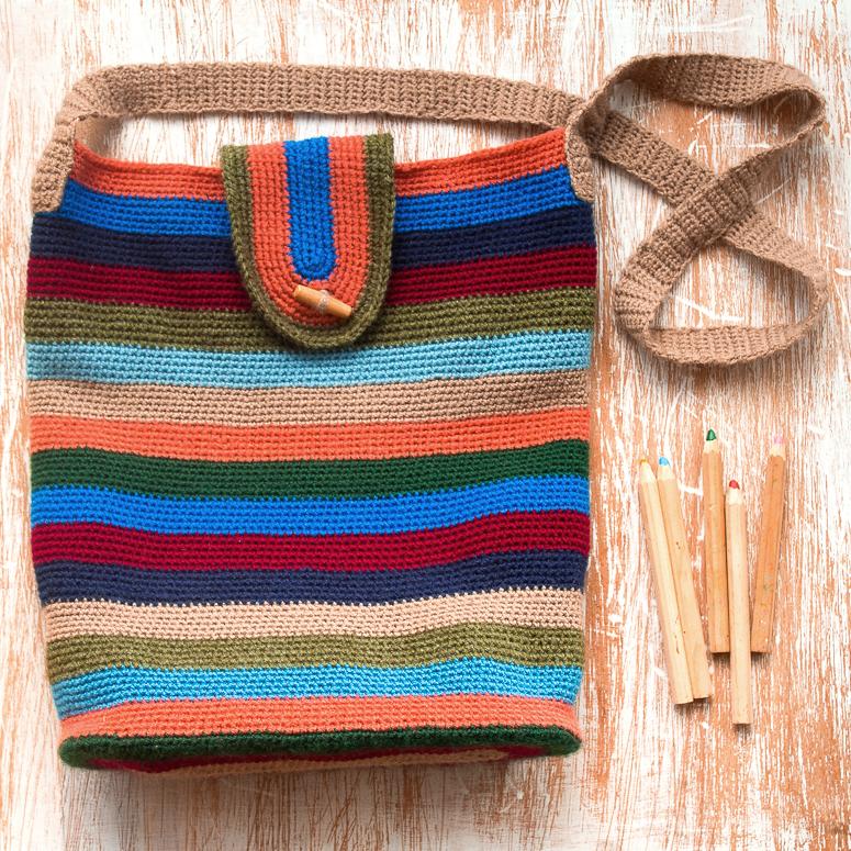 Como hacer bolso con aplicaciones tejido a crochet v 237 - Como hacer bolsos tejidos ...